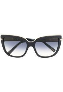 Chopard Eyewear Óculos De Sol Gatinho - Azul