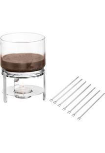 Serviço Fondue Chocolate Inox Riva | Pronta Entrega