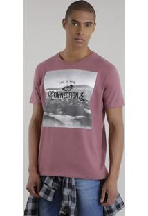 "Camiseta ""Feel The Nature And Make Connections"" Vinho"