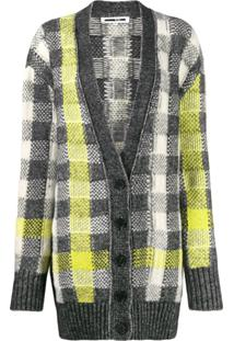 Mcq Alexander Mcqueen Checked Knit Cardigan - Neutro