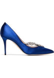 Manolo Blahnik Scarpin Nadira 90 - Azul