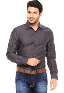 Camisa Sergio K Point Gorg Cinza