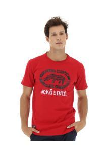 Camiseta Ecko Estampada E236A - Masculina - Vermelho