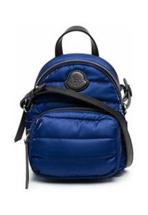Moncler Mochila Com Patch De Logo - Azul