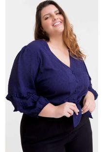 Blusa Cropped Almaria Plus Size Tal Qual Amarração
