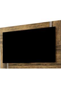 Painel Para Tv Extensivo Delfos Canela Rústico E Dunas Colibri