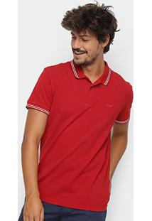 Camisa Polo Sommer Clássica Masculina - Masculino-Vermelho