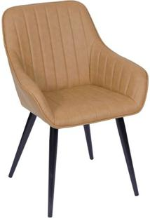 Cadeira Florenã§A Com Braã§Os- Caramelo & Preta- 84X50Or Design