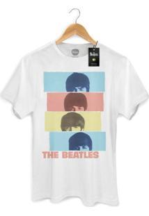 Camiseta Bandup Bandas The Beatles Head Shot Branco