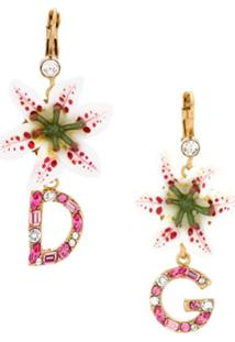 Dolce & Gabbana Par De Brincos De Flor - Branco