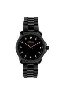 Relógio Vivara Feminino Aço Preto - Ds14226R1B-2