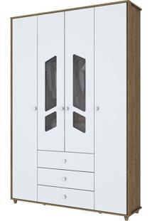 Guarda-Roupa 4 Portas Bambolê I111-18 Branco - Henn