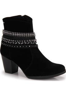 Bota Ankle Boots Dakota Tiras Preta