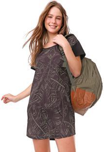 Vestido Redley Curto Palm Preto