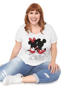 Blusa Cativa Disney Plus Love Branca