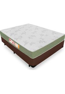 Cama Box Viúva + Colchão De Espuma D33 - Castor - Sleep Max 128X188X53Cm Marrom