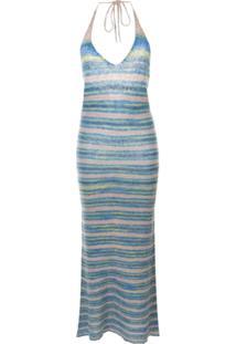 Jacquemus Vestido La Robe Tropea Longo De Tricô - Azul