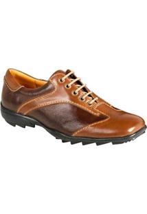 Sapato Casual Masculino Conforto Sandro Moscoloni Grand Marrom - Masculino-Cafe