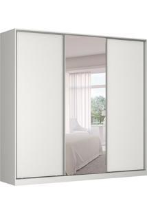 Guarda-Roupa Casal Com Espelho Tunas I 3 Pt 3 Gv Branco
