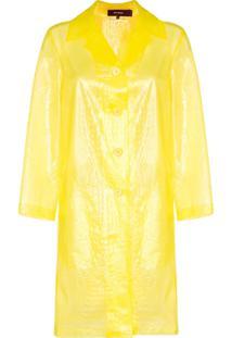 Sies Marjan Casaco Com Efeito Croco E Transparência - Amarelo