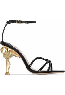Sophia Webster Sandália Com Salto De Flamingo 100Mm - Preto