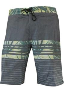 Boardshort Spinner Floral Black Palms Billabong - Masculino