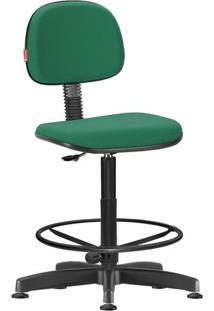 Cadeira Caixa Alta Secretária Giratória Crepe Verde Bandeira