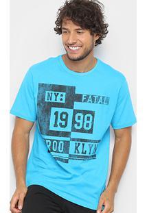 Camiseta Fatal 1998 Brooklyn Masculina - Masculino-Azul Turquesa