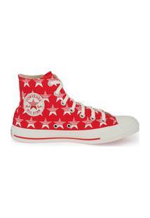 Tênis Converse Chuck Taylor All Star Hi Estrelas Vermelho/Amendoa Ct14790002.36