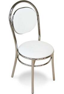Cadeira Cromada George Branca