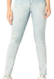 Calça Jeans Denim Zero Skinny Média - Feminino-Jeans