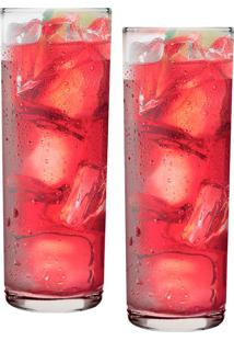 Conjunto De Copos Long Drink 320Ml 2 Peças - Ruvolo - Transparente