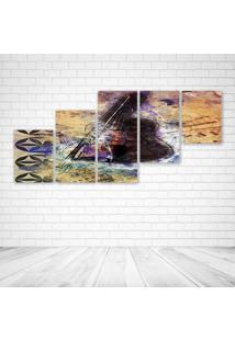 Quadro Decorativo - Art56 - Composto De 5 Quadros - Multicolorido - Dafiti
