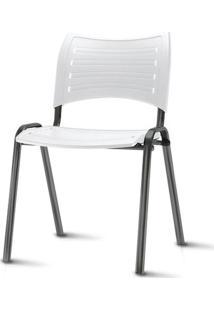 Cadeira Iso Assento Branco Base Preta - 54035 Sun House