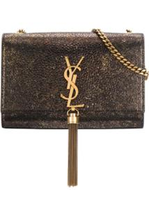 Saint Laurent Metallic Kate Shoulder Bag - Dourado