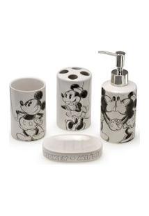 Jogo De Banho - Minnie Mouse - 04 Peças - Mabruk