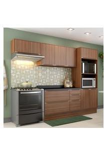Cozinha Modulada Multimóveis 5457R Calábria 7 Peças Nogueira