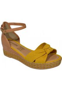 Sandalia Mississipi Feminina - Feminino-Amarelo