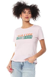 Camiseta Volcom Stoked On Stone Rosa