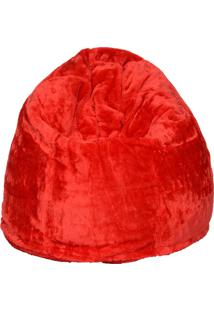 Puff Soft Pelúcia - Stay Puff - Vermelho