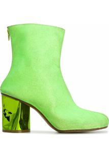 Maison Margiela Ankle Boot Com Brilho - Verde