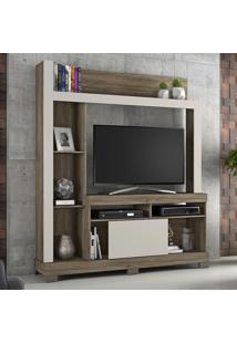 Estante Para Tv Até 43 Polegadas 1 Porta Nt 1025 Canela/Areia - Notavel