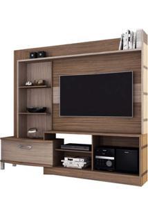 Estante Home Para Tv De Até 54 Polegadas New Lavínia Colibri Malbec Com Riviera