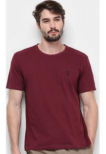 Camiseta Aleatory Estampada Masculina - Masculino-Vinho