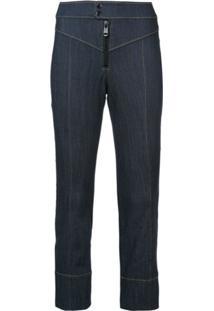 Cinq A Sept Calça Jeans Bootcut Cropped - Azul