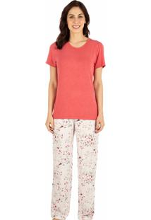 Pijama Estampado Homewear Romã - 589.076 Marcyn Lingerie Pijamas Multicolorido
