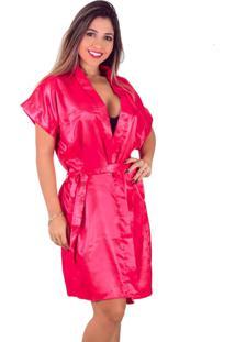 Robe Feminino Vip Lingerie Acetinado Vermelho