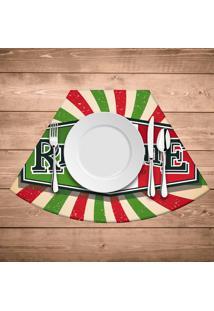 Jogo Americano Para Mesa Redonda Wevans Restaurante Italiano