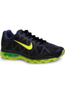 Tenis Masc Nike 684530-002 Air Max 2011 Preto/Limao