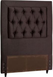 Cabeceira Cama Box Solteiro 98Cm Itália Marrom - Starbox
